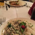 Chicken with asparagus and mushroom sauce, and Chicken San Giorgio