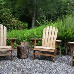 Peaceful outdoor seating