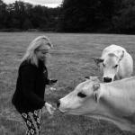 Clare and the Italian cow