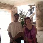 our waiter at Accord Hotel Chennai. Excellent service
