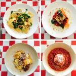 Hand made ravioli, fish, lamb ragu & hand made meatballs