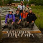 Late day sockeye catch and great guides.