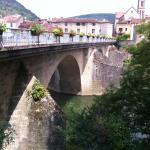 The historic bridge over the Aveyron river