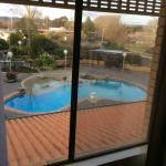 The window could do with a clean, but the pool looks very inviting.