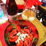 """Insalata """"Jenni"""" and Cinque Terre D.O.C wine"""