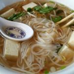 Delicious Tofu Pho with regular broth.