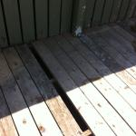 Missing pool deck boards