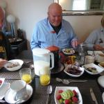 Fabulous breakfast in cheery dining room