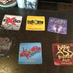 Flight- description coasters (with additional info on the reverse)