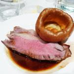 Strip loin with Yorkshire pudding