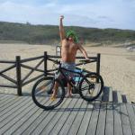 De bicicleta para a praia
