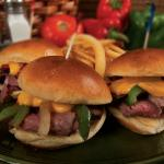 Lunch, Minnesota Cheesesteak Sliders