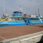 Le bateau au départ du port de St-Raphaël