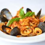 italian food seafood tortellini