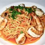 Spaghettini with Prawns