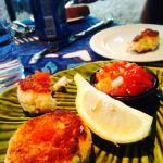 Macadamia crab cake