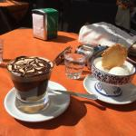 Ice coffee and ice cream, Betty Cafe, Brindisi
