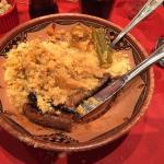 Couscous Merguez et belle assiette de sauté d'agneau. Succulent!
