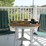 Scrumptious breakfast on a private balcony