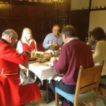 Charity fundraising breakfast with Chelsea Pensioners