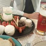 il piattobedò con bufale di Mondragone e birra del borgo