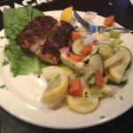 Blackened Fish with steamed veggies