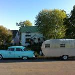Classic car, caravan and home