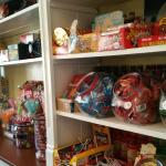 candy on the shelf