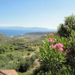 View over Katelios across the sea to Zakibthos