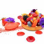 Tous les fruits de Saison pour une tartelette à la vanille de Madagascar, Sorbet fraises de Mont