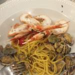 clams and langoustine