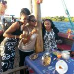 My sister's first time on the dhow