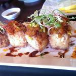 Hand roll just so so(too much rice), the double dragon roll is yummy . the fist pic is special,