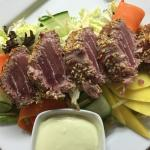 Sesame Seed encrusted Seared Fresh Tuna Salad