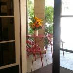 A beautiful porch and fabulous food!