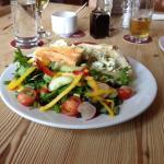 Baguette with salad looks great tastes wonderful