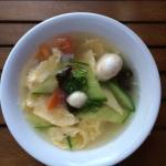 Starter soup - egg something.. :)