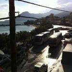 du balcon de la chambre, la vue côté Est après un orage