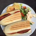Delicious Panini!! ( Cheese and Chorizo, by the way!!)