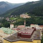 Utsikt från hotellrummet över Bad Gasteindalen
