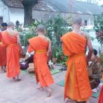 Watching the monks at dawn