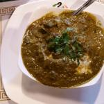 Saag with lamb and okra my own creation