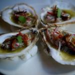 Green Tea Escabeche Oysters