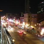 Looking up Broadway from the rooftop