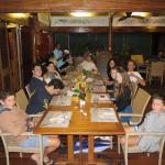 Lovely dinner for the 13 of us at Aqua