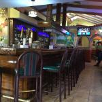 The bar and the decorations makes you feel in Playa del Carmen.