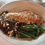 Signature Walleye with green beans and wild rice