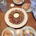 Great salads, FAAAANTASTIC rolls, and the blooming onion