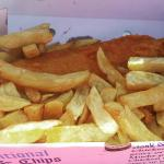 Beautiful cod and chips