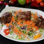 Chupan Kabob (Lamb Chops) salad.
